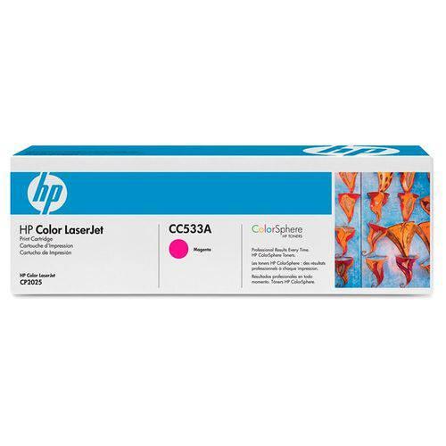 Toner Hp Suprimentos Cc533a Rendimento 2.800 Páginas para Impressoras Hp Color Laserjet