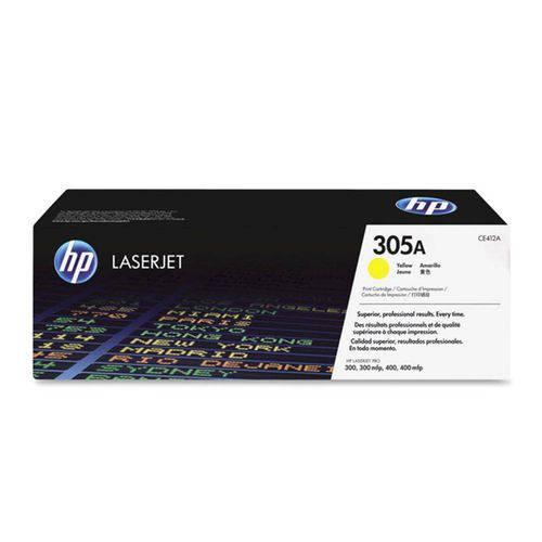 Toner Laserjet Color Hp Suprimentos Ce412a Hp 305a Amarelo M451dw / M457dn / M475dw