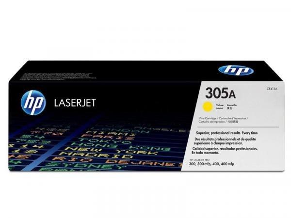 Toner Laserjet Color HP Suprimentos CE412AB HP 305A Amarelo M451DW / M457DN / M475DW