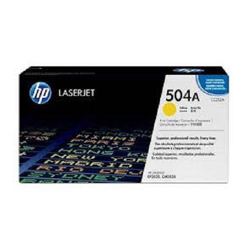 Toner Original Hp Ce252a 504a Yellow | Hp Laserjet Color Cp3525 Cp3525dn Cm3530 Cp3525 Cm3530 | 7k