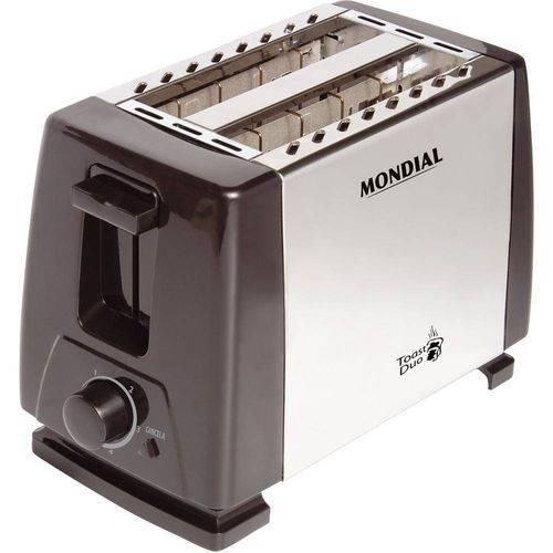 Tudo sobre 'Torradeira de Paes Mondial Toast Duo Nt01 Aco Inox 127v'