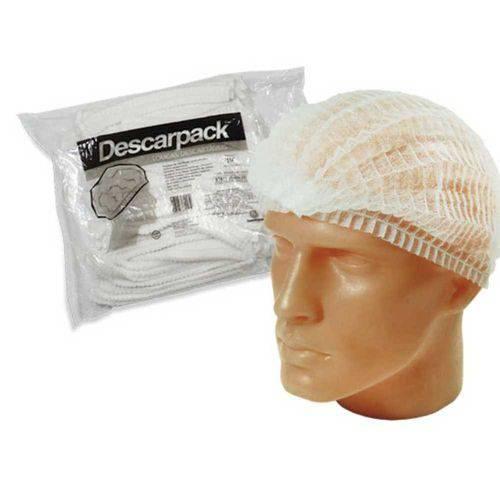 Touca Descartável Descarpack (pacote com 100 Unidades) Branca