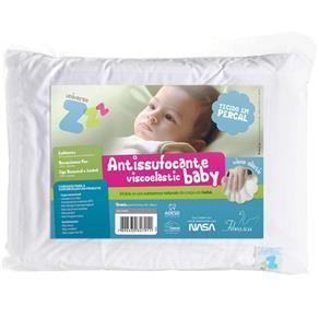 Travesseiro Anti Sufocante Infantil Visco Baby com Capa Extra 30x40cm - Fibrasca