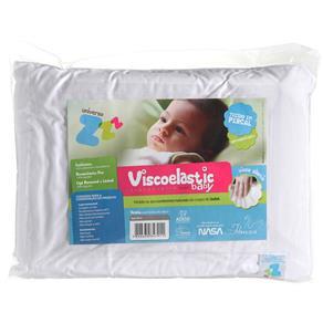 Travesseiro Anti Sufocante Viscoelástico Nasa - Baby 30x40 Cm