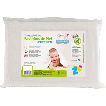 Travesseiro Antissufocante Fibrasca Favos de Mel Baby 100% Lavável
