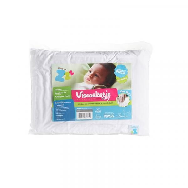 Travesseiro Antissufocante para Bebê Viscoelastic Baby - Fibrasca