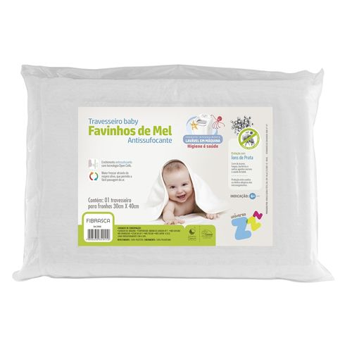 Travesseiro Baby Antissufocante Favinhos de Mel - Fibrasca