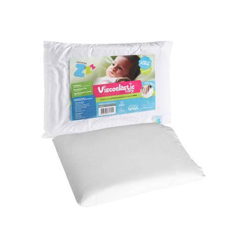 Travesseiro Baby Fibrasca Antissufocante Viscoelástico Nasa Branco