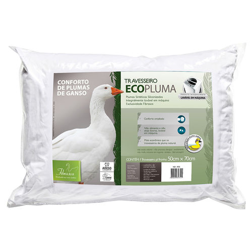 Travesseiro de Pluma Ecopluma 50x70cm - Fibrasca