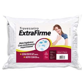 Travesseiro Extrafirme com Revestimento Impermeável - Branco
