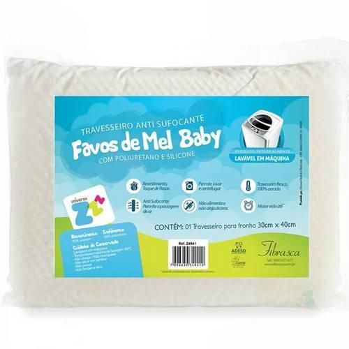 Travesseiro Favinhos Baby Antisufocante Lavável 30x40cm Fibrasca