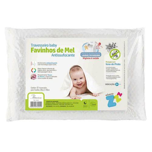 Travesseiro Favinhos Baby Antisufocante Lavável Fibrasca
