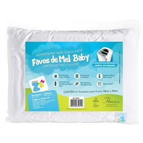 Travesseiro Fibrasca Infantil Anti Sufocante Favinhos de Mel Z4941, Creme