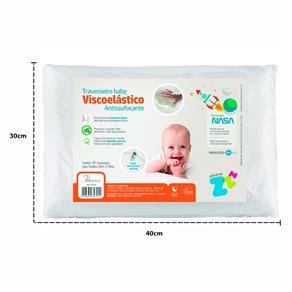 Travesseiro - Nasa Viscoelástico Anti Sufocante Antiácaro - BRANCO