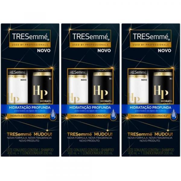 Tresemme Hidratação Profunda Shampoo + Condicionador 400ml (Kit C/03)