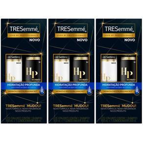Tresemme Hidratação Profunda Shampoo + Condicionador 400ml - Kit com 03