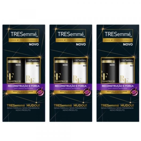 Tresemme Reconstrução e Força Shampoo + Condicionador 400ml (Kit C/03)