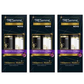 Tresemme Reconstrução e Força Shampoo + Condicionador 400ml - Kit com 03