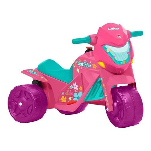 Triciclo Elétrico Gatinha 2593 Bandeirante Rosa