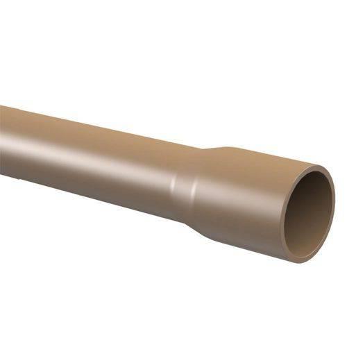 Tubo PVC para Água Fria Soldável 6 Metros 1.1/2'' DN-50 Marrom - 10.12.050.0 - TIGRE