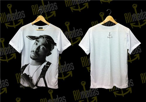 Tupac - Serious Shoot (P, T-shirt Masculino)