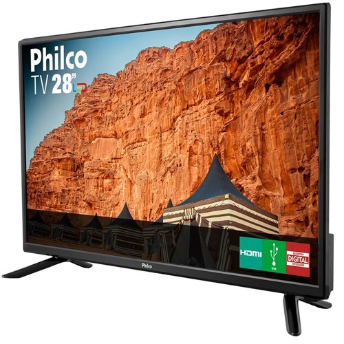 "Tudo sobre 'TV Led HD 28"" PH28N91D Philco - Bivolt'"