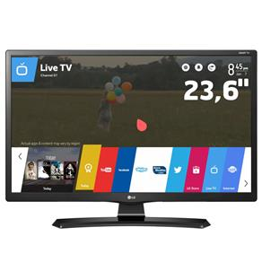 "TV Monitor Smart LED 23,6"" HD LG 24MT49S-PS com Wi-Fi, WebOS, Conversor Digital Integrado, Screen Share, Cinema Mode, HDMI e USB"