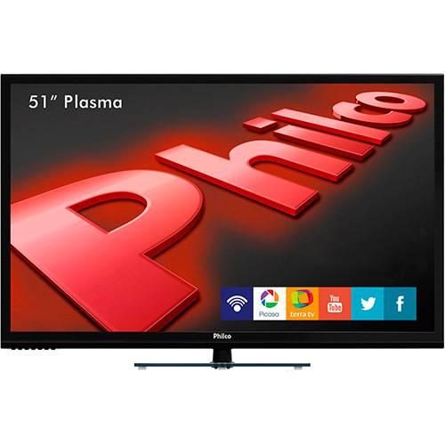 Tudo sobre 'TV Plasma 51'' Philco PH51U20PSGW HD com Função Smart Conversor Digital 3 HDMI 1 USB Wi-Fi 60Hz'