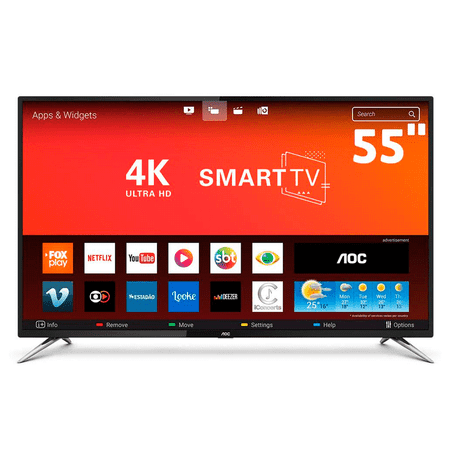"Tudo sobre 'TV Smart LED 55"" UHD AOC TV Smart LED 55'"