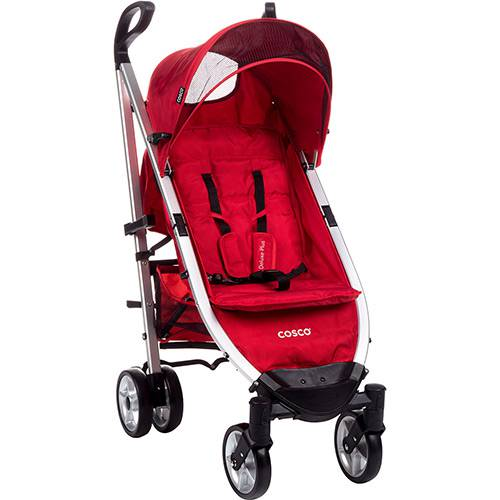 Carrinho de Bebê Umbrella Deluxe Plus Vermelho Tabasco - Cosco