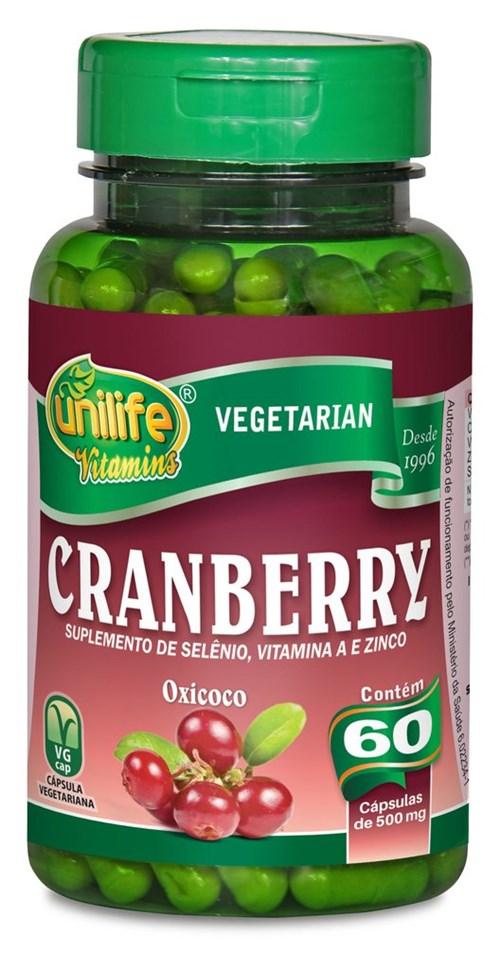 Unilife Cranberry 60 Cápsulas 500Mg