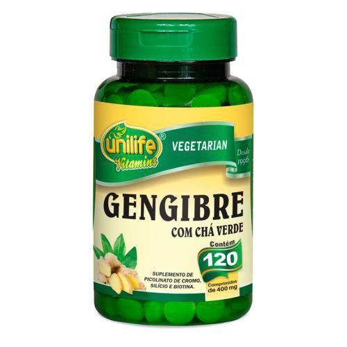 Tudo sobre 'Unilife Gengibre com Cha Verde 120 Comp'