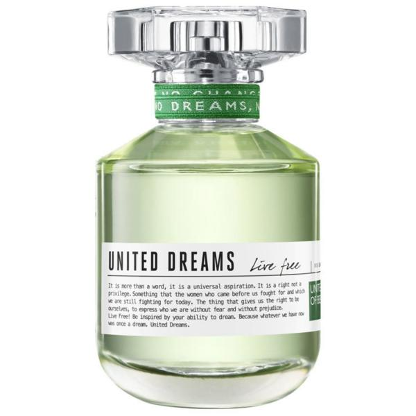 United Dreams Live Free Benetton Eau de Toilette - Perfume Feminino 80ml