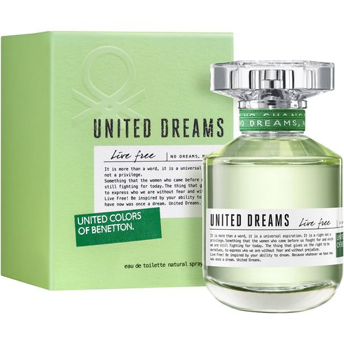 United Dreams Live Free By Benetton Feminino Eau de Toilette 50ml