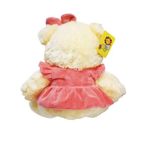 Tudo sobre 'Urso de Pelúcia de Vestido Bege / Rosa'