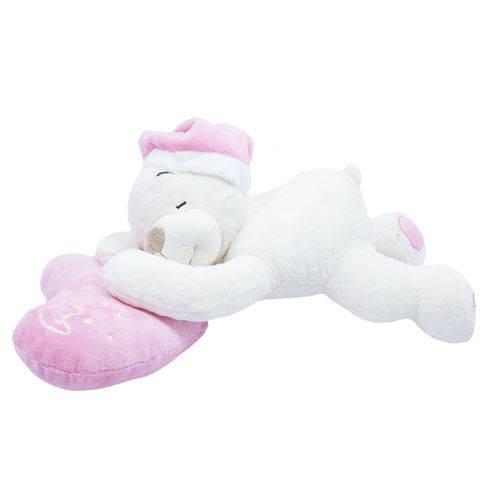 Tudo sobre 'Urso Dormindo no Coração Rosa 33cm - Pelúcia'
