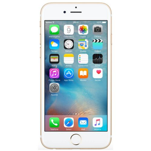 Usado: Iphone 6s Plus 16gb Dourado