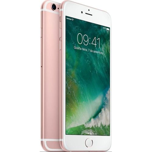 Usado: Iphone 6s Apple 16gb Rosa - Bom