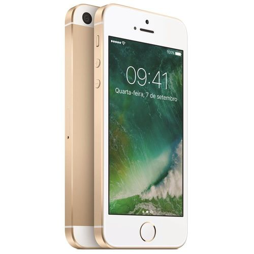 Usado: Iphone se Apple 16gb Dourado