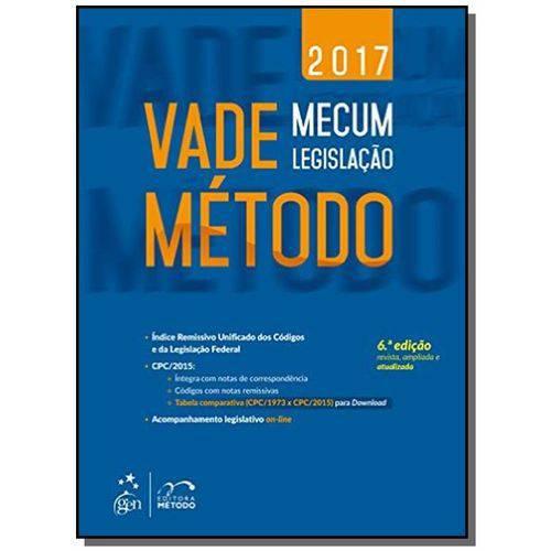 Tudo sobre 'Vade Mecum Metodo: Legislacao - 2017'