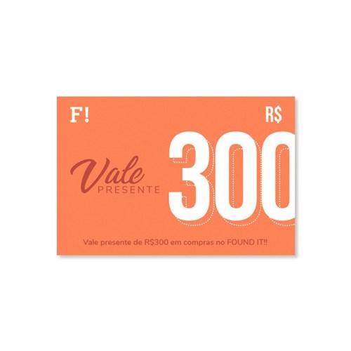 Vale Presente FOUND IT! R$300