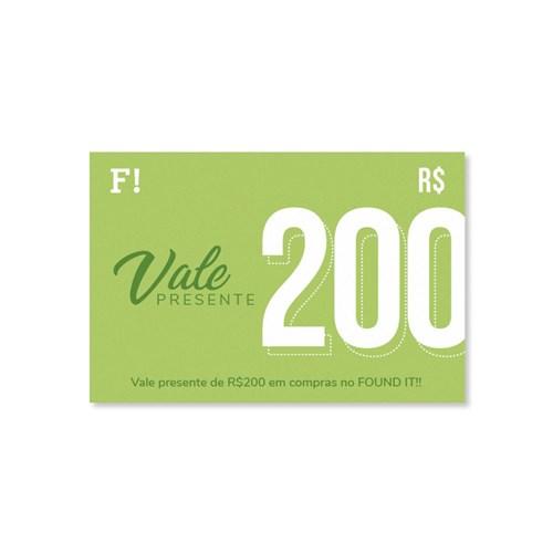 Vale Presente FOUND IT! R$200