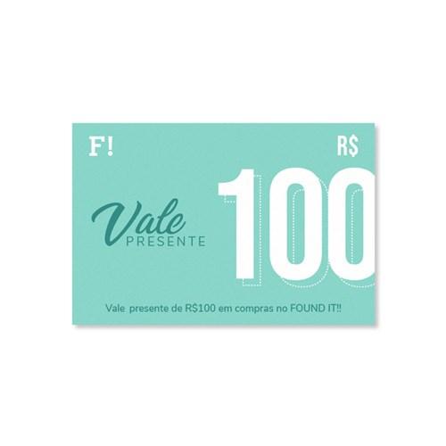 Vale Presente FOUND IT! R$100