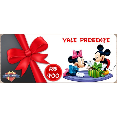 Vale Presente - R$ 400,00