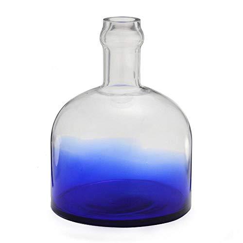 Tudo sobre 'Vaso de Vidro Azul 28cm'