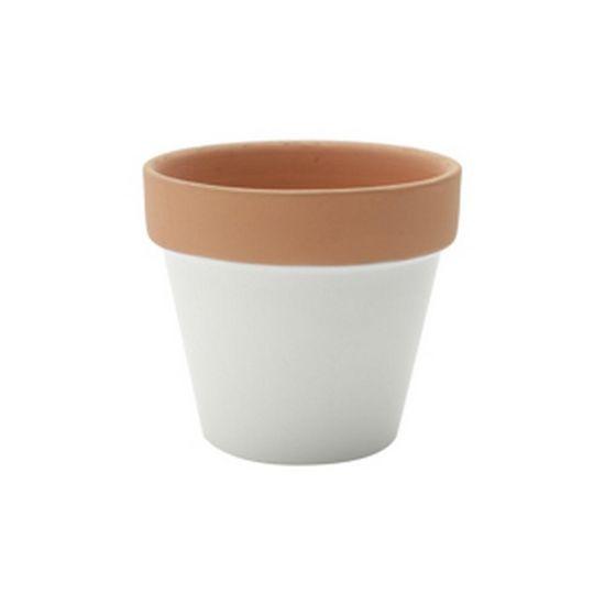 Tudo sobre 'Vaso em Cerâmica 8 Cm Branco e Terracota'