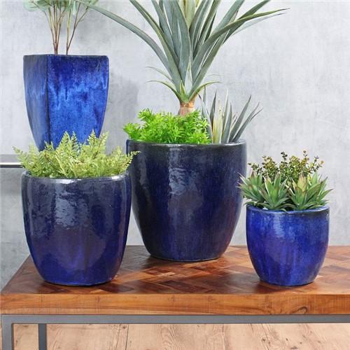 Tudo sobre 'Vaso Hong Azul Escuro Grande'