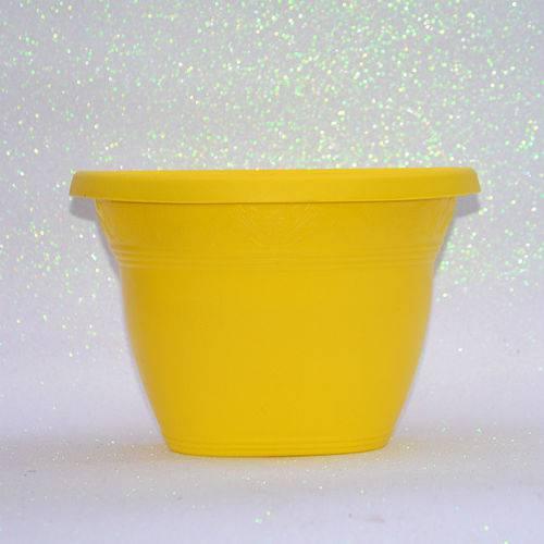 Vaso Plástico de Parede - Vicenza - Amarelo - Grande