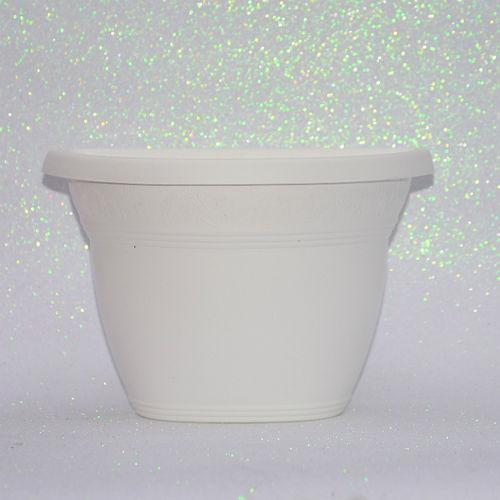 Vaso Plástico de Parede - Vicenza - Branco - Grande