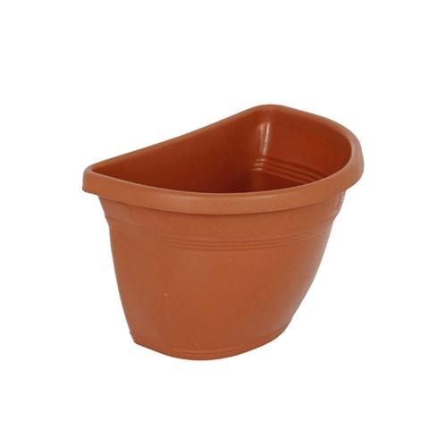 Vaso Plástico para Parede Vicenza Terracota Médio